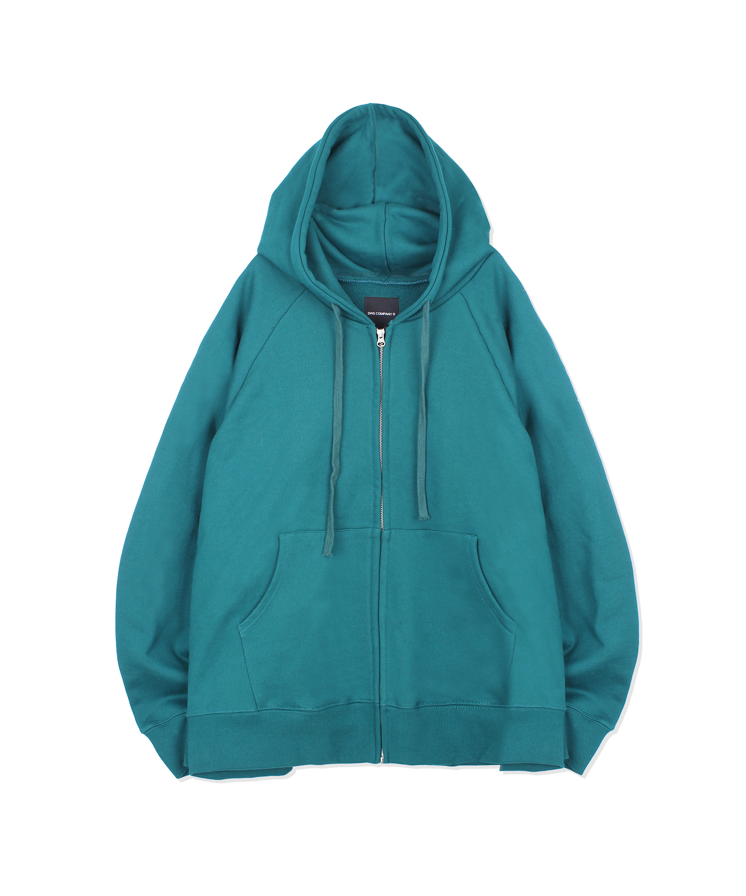 DWS OVER-FIT ZIP-UP HOODIE(BLUE GREEN)