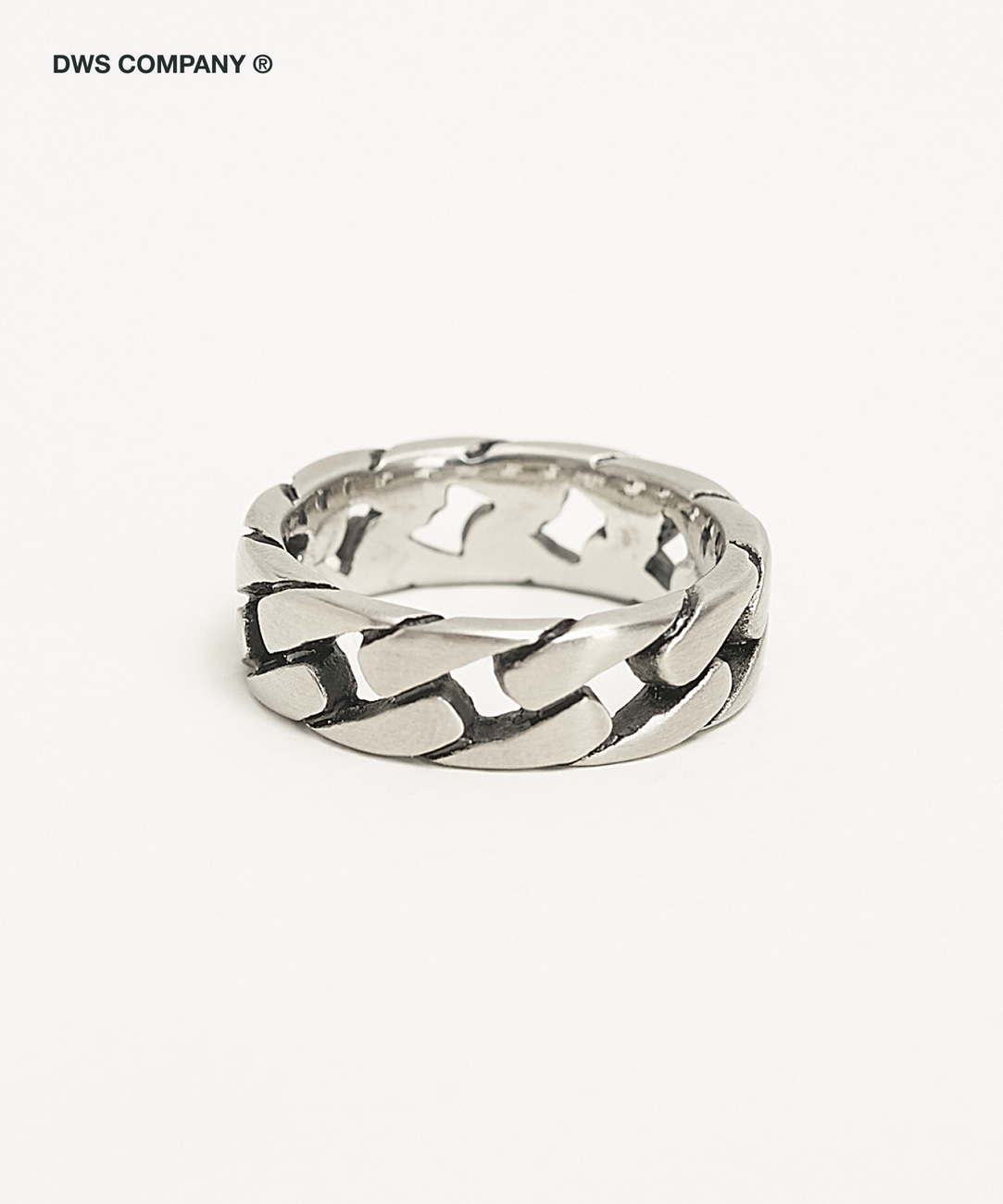 DWS ROUNG CHAIN RING(SILVER)