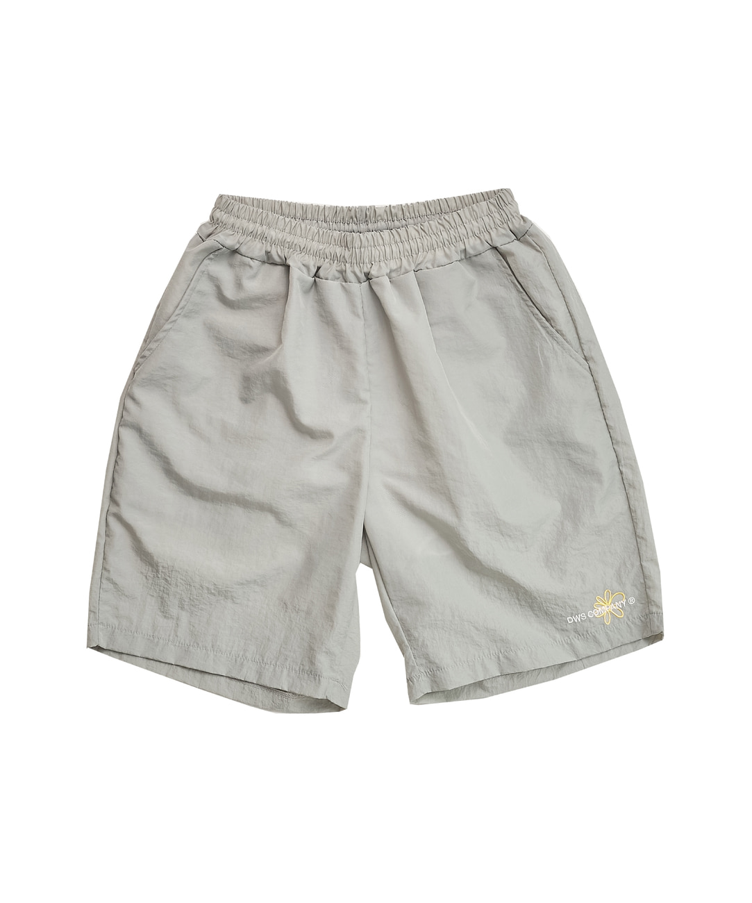 DWS FLOWER LOGO SHORTS(GREY)