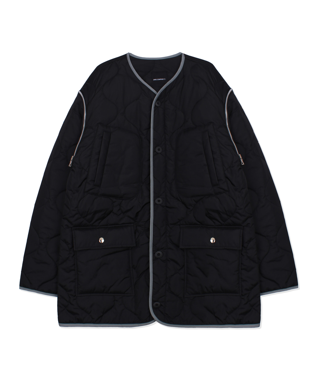 DWS 2WAY QUILTED JACKET(BLACK)