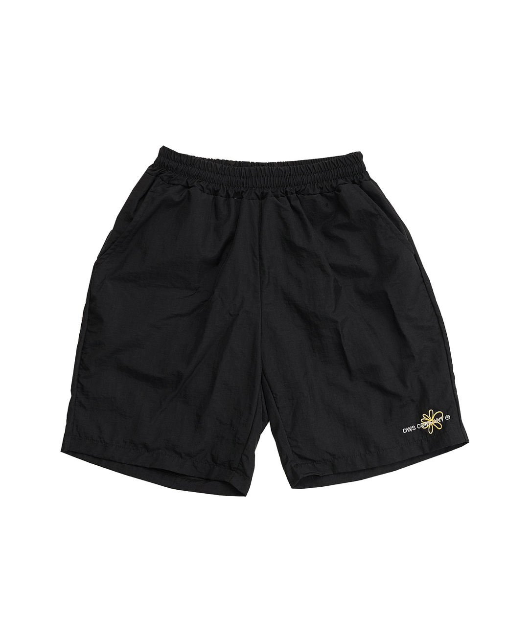 DWS FLOWER LOGO SHORTS(BLACK)