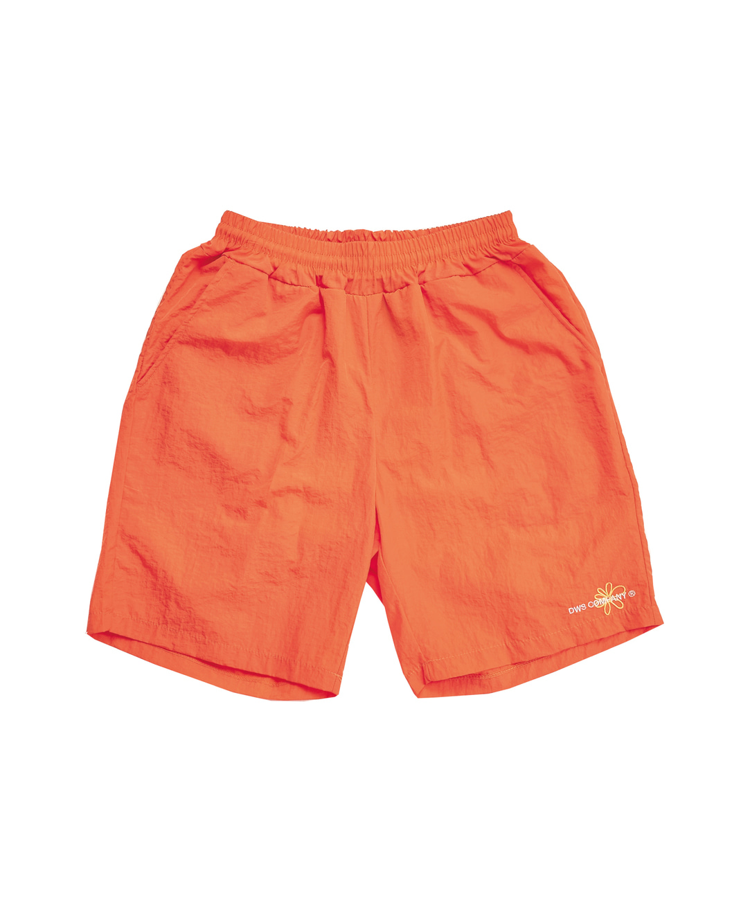 DWS FLOWER LOGO SHORTS(ORANGE)