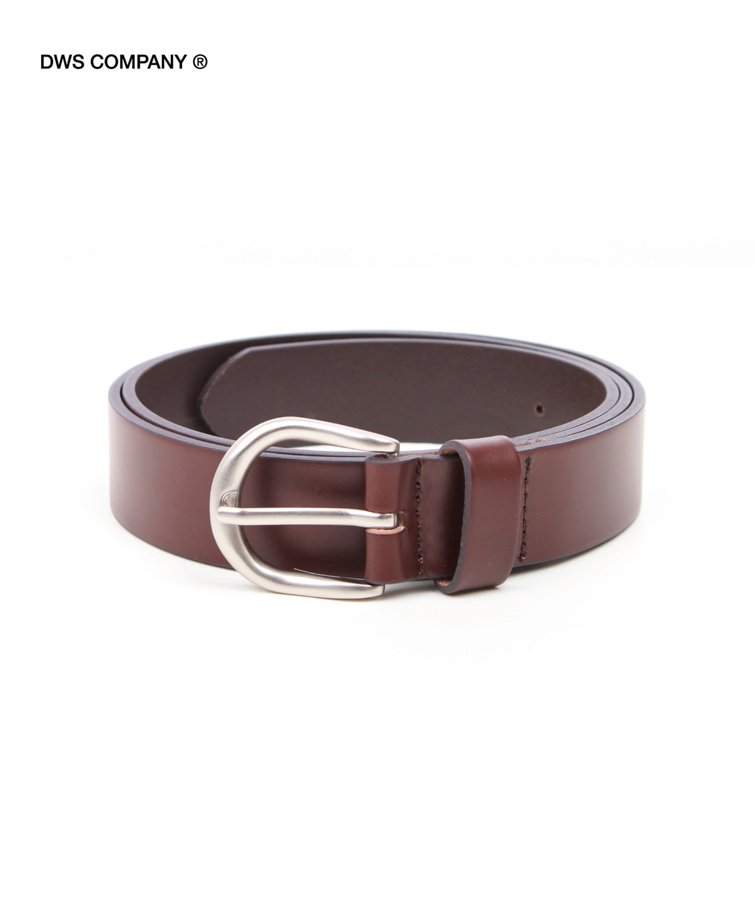 DWS BASIC LEATHER BELT(DARK BROWN)