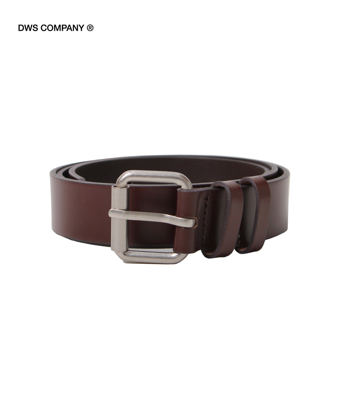 DWS ROLLING LEATHER BELT(DARK BROWN)
