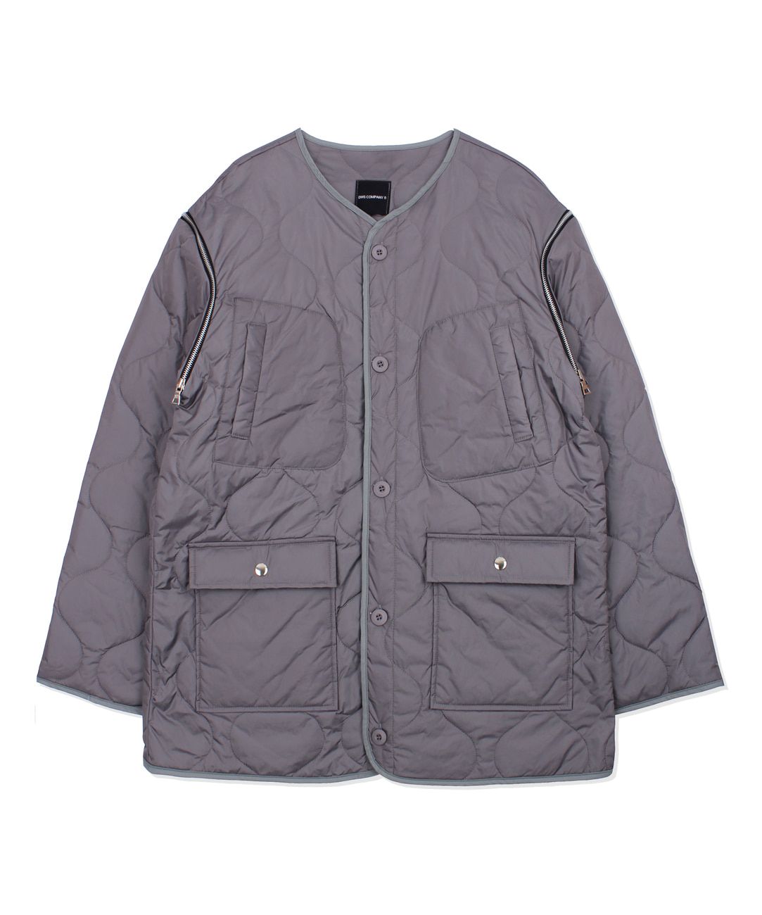 DWS 2WAY QUILTED JACKET(CHARCOAL)