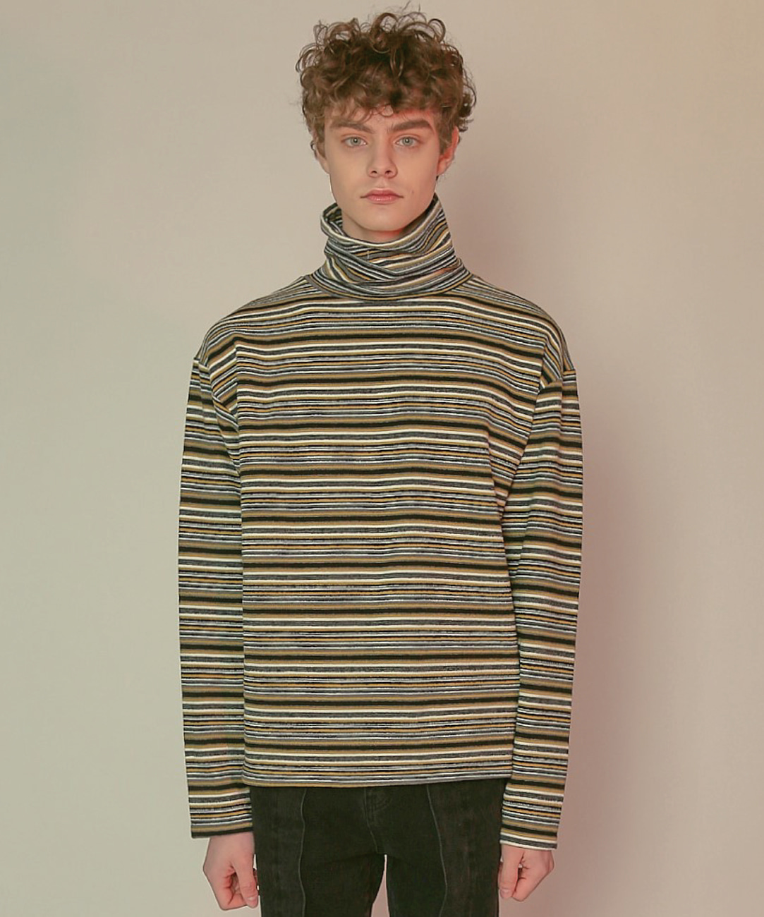 DWS STRIPE TURTLENECK(YELLOW)
